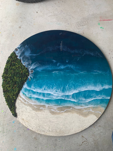 The Waihi Beach - Resin Wall Art