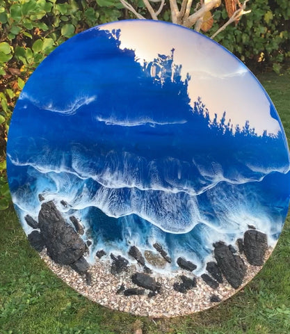The Rock Pools - Resin Wall Art