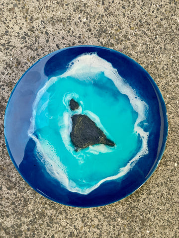 Mini Blue Lagoon - Resin Wall Art