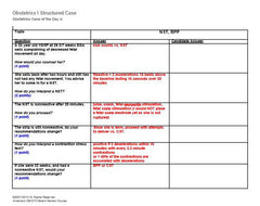Sample of one of ABC's structured cases. Case outlined, answer and room for candidates answer.
