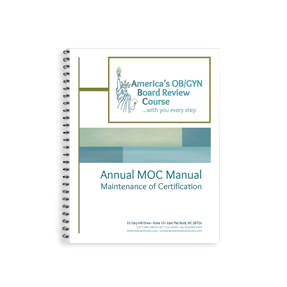 Annual MOC (Maintenance of Certification) FPMRS Manual for Subspecialty ABOG Oral Exam