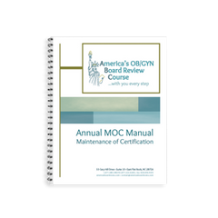 Annual MOC (Maintenance of Certification) FPMRS Manual for Subspecialty ABOG MOC Exam