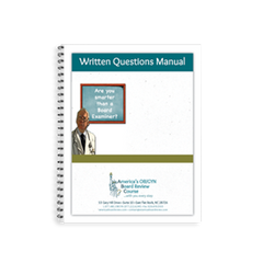 ABC's Written Questions Manuals are included in this Royal College OB GYN written exam package