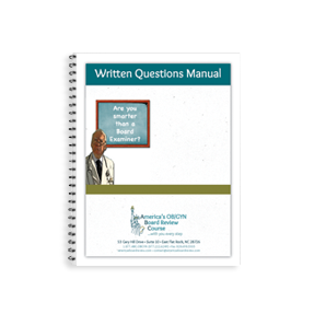 Written Questions Manuals for CREOG and Written Exam