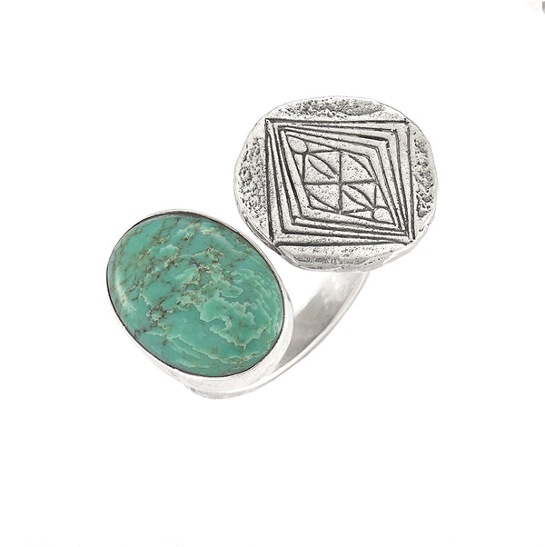 DIVINE GRACE RING WITH TURQUOISE STONE