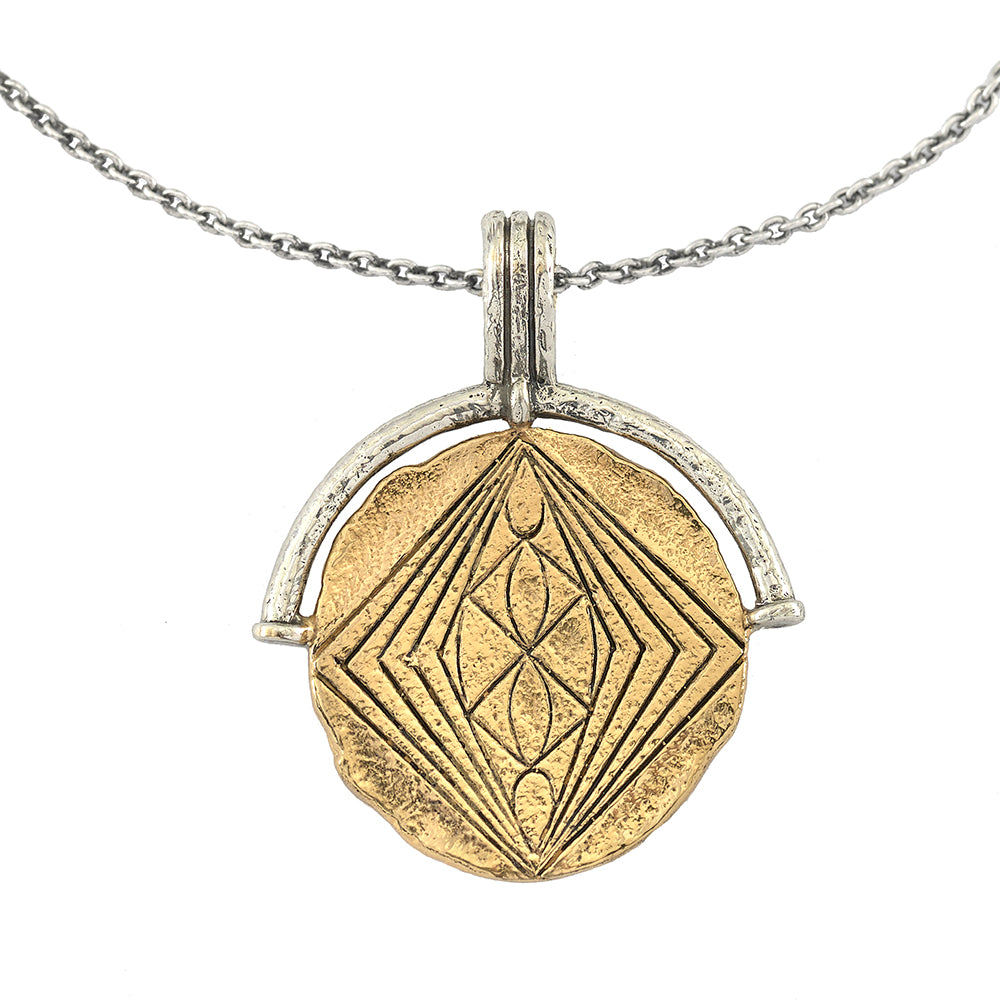 DIVINE GRACE MEDALLION COIN NECKLACE