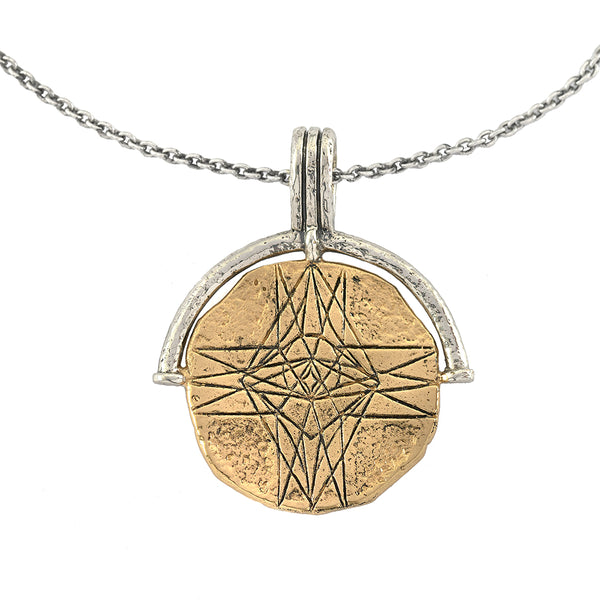 DIVINE LOVE MEDALLION COIN NECKLACE