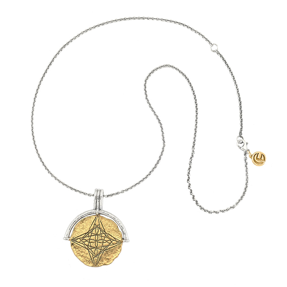 DIVINE HEART MEDALLION COIN NECKLACE