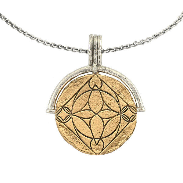 DIVINE ANGELS  MEDALLION COIN NECKLACE
