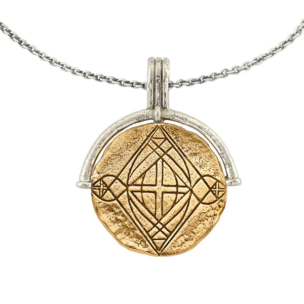 DIVINE PROTECTION MEDALLION COIN NECKLACE