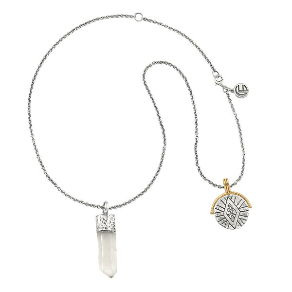 DIVINE ABUNDANCE NECKLACE WITH QUARTZ CRYSTAL