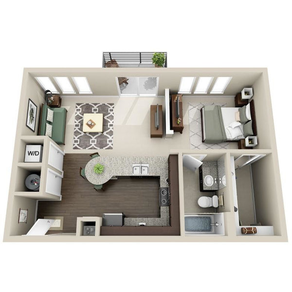 1 Room Apartment Furniture Package (From 60 till 100 sqm)