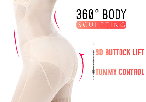 tummy tuck compression garment to help for a speedy recovery while shaping the figure