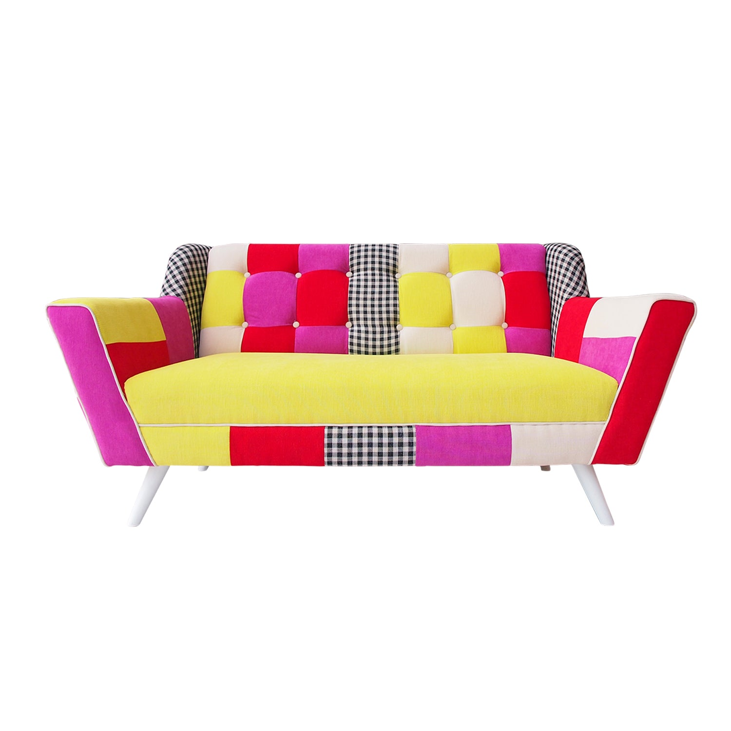 Vanya Patchwork Sofa 2 Seater