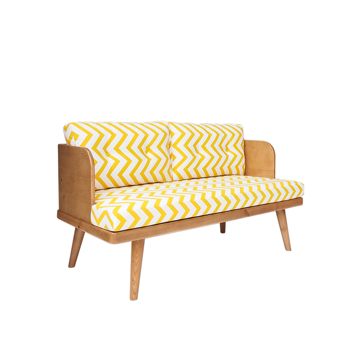 Hazel Sofa Yellow Chevron