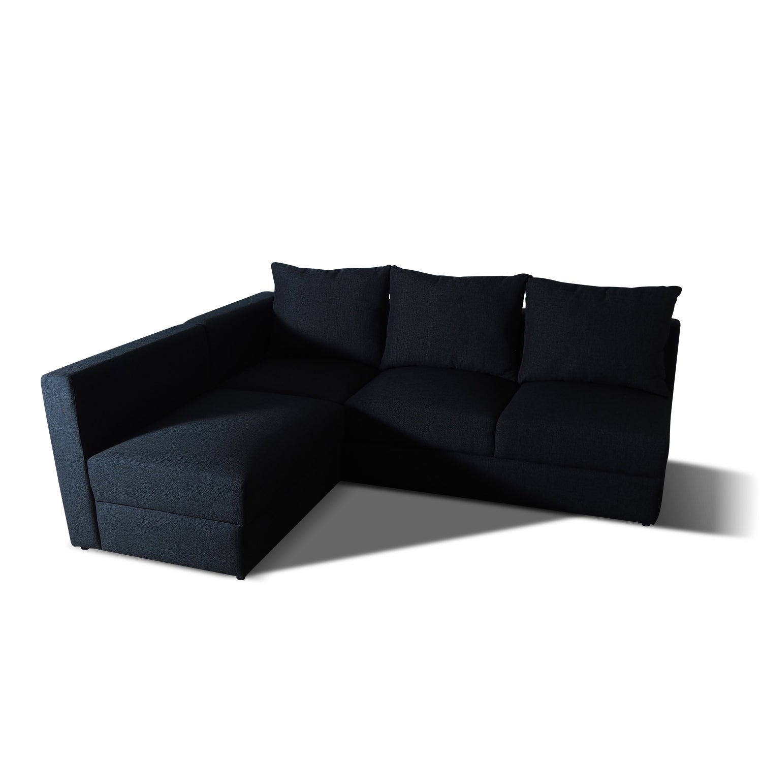 Sofa L Shape Black