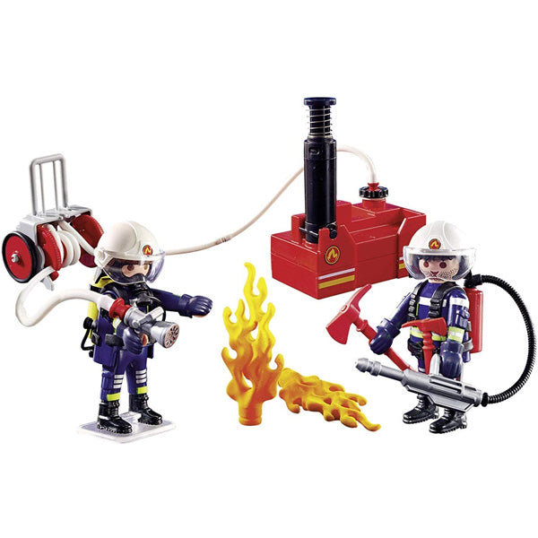 Playmobil - Playset City Action -  Firefighters With Water Pump Playmobil 9468