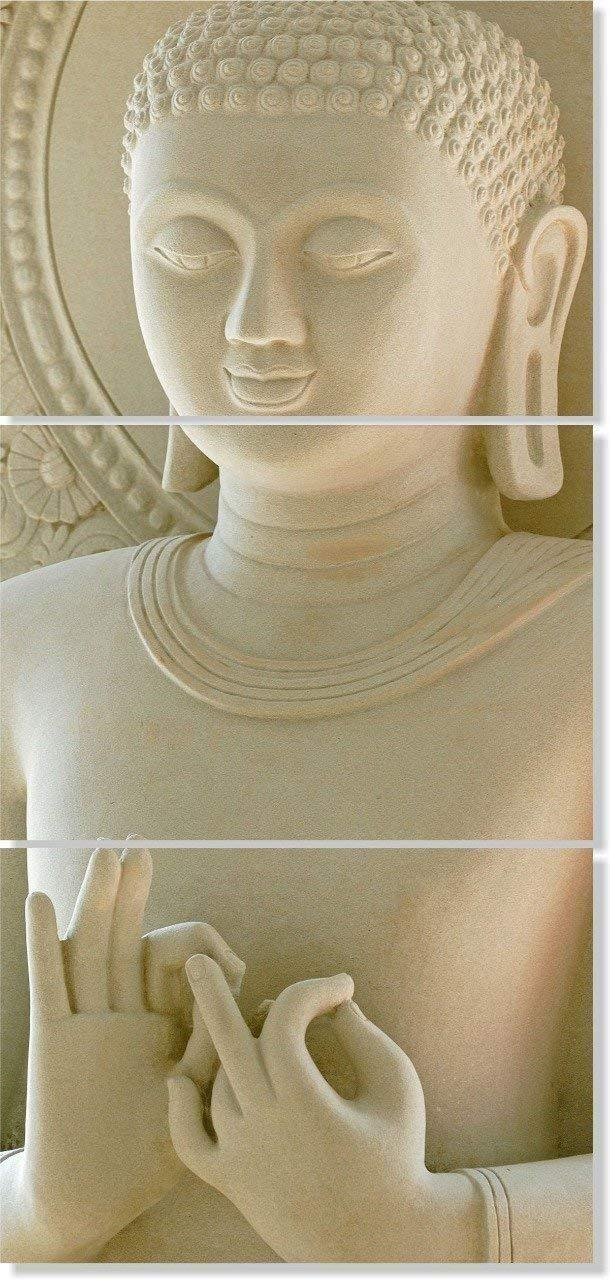 Contemporary Lord Buddha Statue Print on Canvas