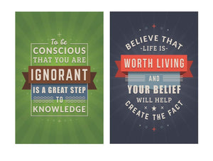 Motivational Posters with Quotes- 12 x 18 inch (Pack of 10)