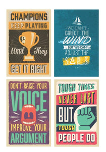 Motivational Posters for home and office- 12 x 18 inch (Pack of 10)
