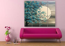 Load image into Gallery viewer, Full Moon Split Painting-Full Moon Painting for Home Decor-khirki.in