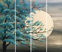 Load image into Gallery viewer, Full Moon Split Painting-Full Moon Painting for Home Decor