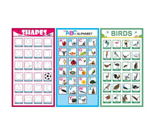 Load image into Gallery viewer, Paper Plane Design Children's Early Learning Educational Posters Set of 10 - ( 12 in x 18 inch) - Thick Paper with Tape - Unframed.