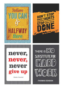Inspirational Wall Poster (45 cm x 30 cm x 2 cm, Set of 10)
