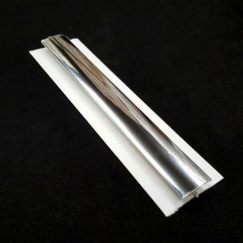 H Trim Chrome Finish 5mm For Cladding Wall Panels 2.6m Long - Claddtech