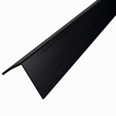 Black Rigid Angle Corner Trim 25 x 25mm For 10mm Bathroom Panels - Claddtech