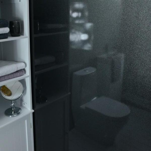 Black Shimmer 10mm Thick Large PVC Cladding Shower Boards 2.4m x 1m - Claddtech