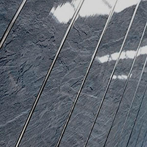 Charcoal Slate & Chrome 5mm PVC Panels For Walls Bathroom Claddidng - Claddtech