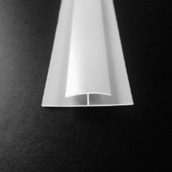 H Trim or Joining Strip in White Finish for 5mm Thick Panels 2.6m Long - Claddtech
