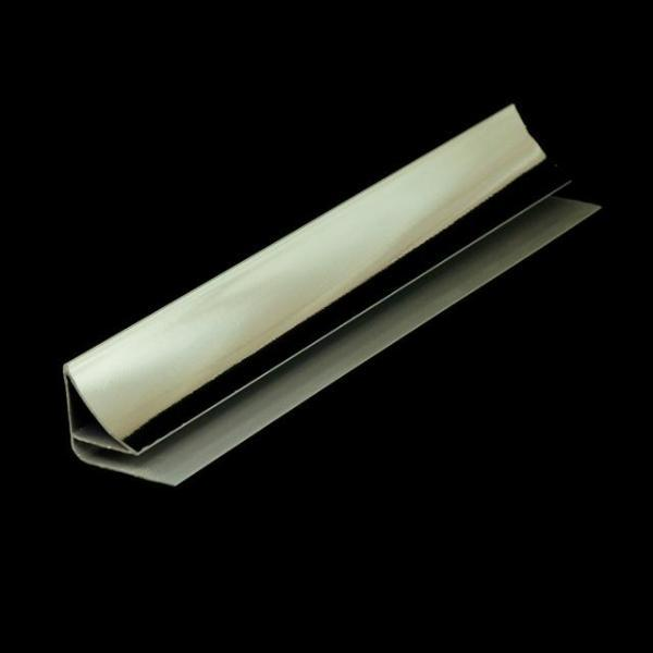 Coving Trim Chrome Finish for Cladding Wall & Ceiling Panels 2.6m Long - Claddtech