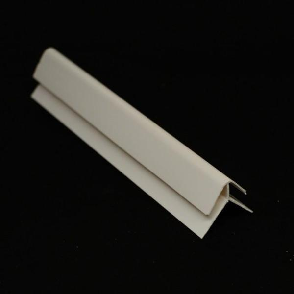 External Corner Trim in White Finish for Cladding Wall Panels 2.6m Long - Claddtech