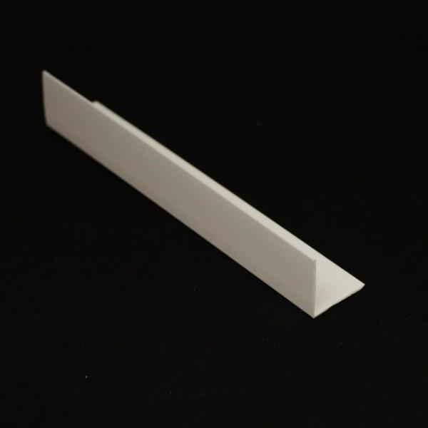 White Rigid Angle Corner Trim 25mm x 25mm For 5mm Bathroom Panels - Claddtech