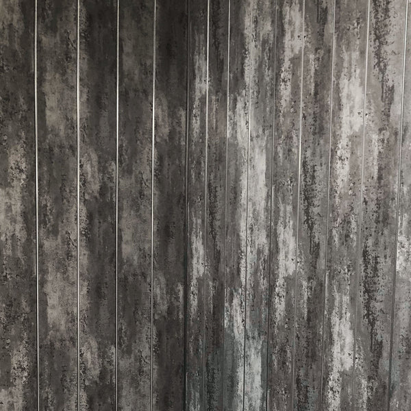 Anthracite Mist & Chrome Bathroom Wall Cladding 5mm Panels 2.6m x 0.25m - Claddtech