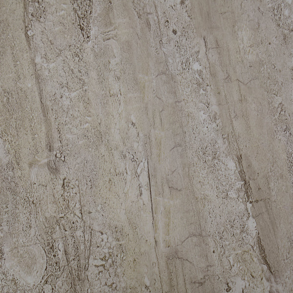 Beige Natural Sandstone Bathroom Wall Panels PVC 10mm Thick Cladding 2.6m x 250mm