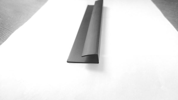 Black End Cap, or J Trim, or Universal Trim for 5mm Panels 2.6m Long - Claddtech