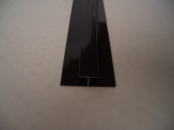 Black H Trim, Joining Strip For 5mm Cladding Wall Panels 2.6m Long - Claddtech