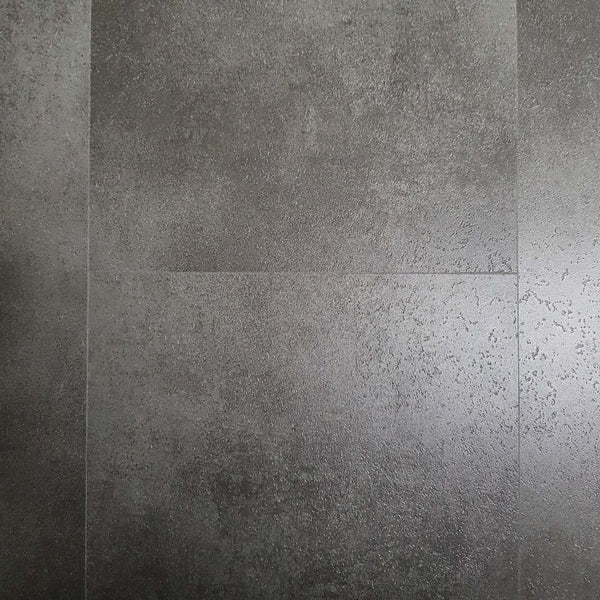 Anthracite Metallic Dark Grey Stone Tile SPC Stone Reinforced Composite Waterproof Flooring 1.86må? (å£26.85 per må?) - Claddtech