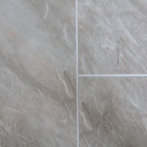 Grey Marble Tile Groove 8mm Bathroom Wall Cladding PVC Panel