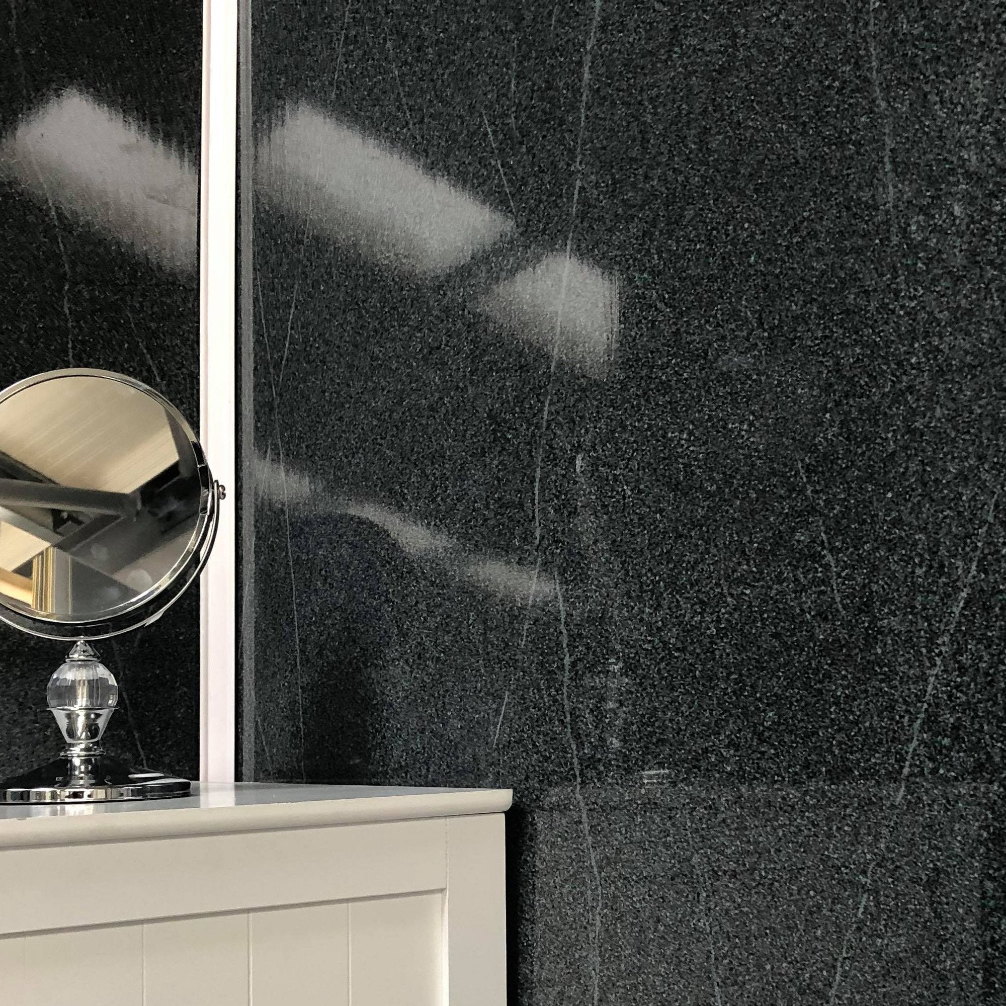 Grey Granite Large 10mm Thick Bathroom Wall PVC Cladding Panels - Claddtech