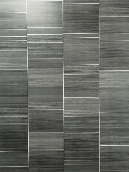 Executive Small Tile 8mm Wall Panels For Bathrooms PVC Wall Cladding 2.6m x 0.25m - Claddtech