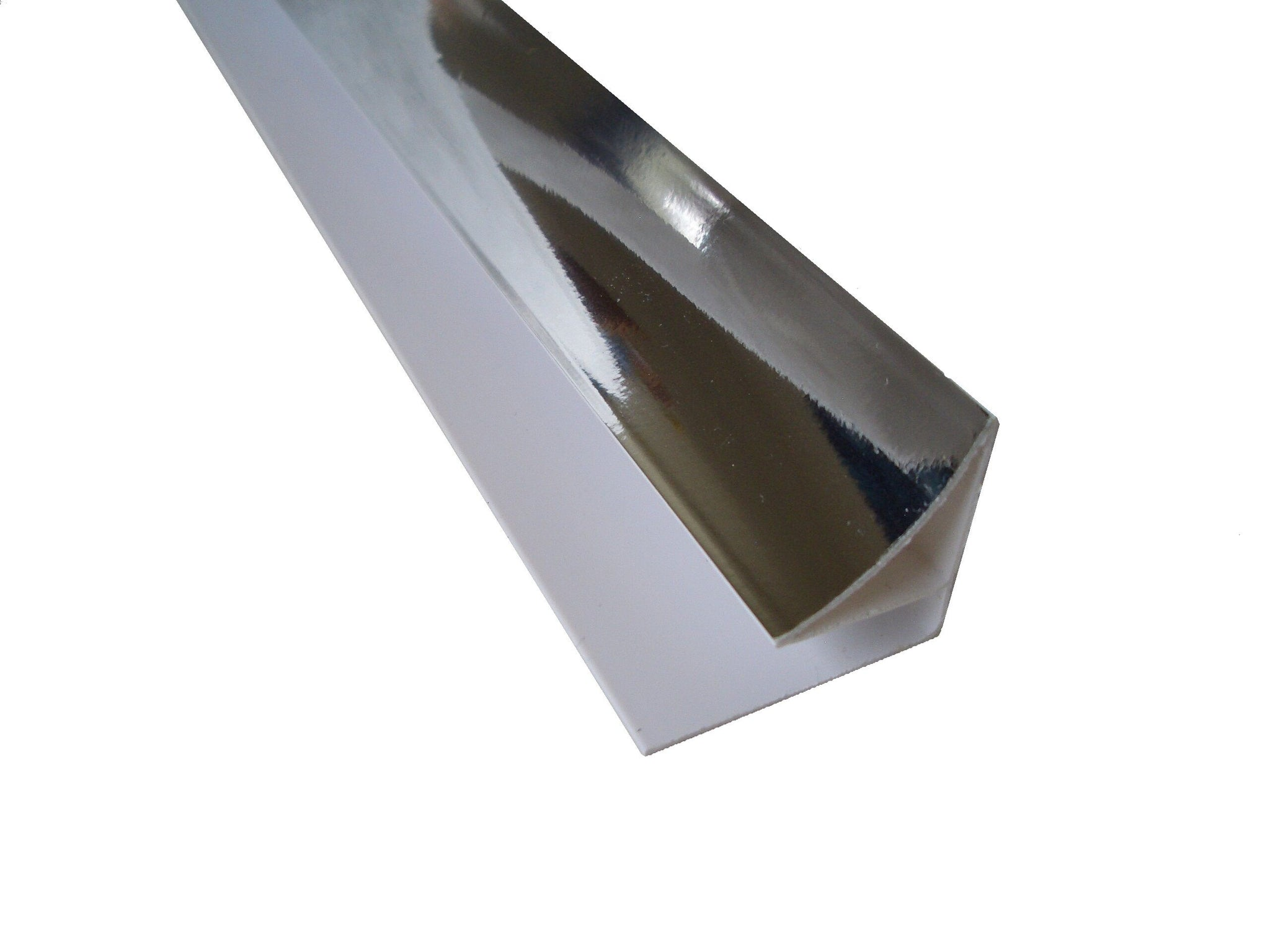 Coving Trim Chrome Finish for 10mm Wall & Ceiling Panels 2.4m Long