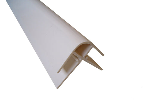 External Corner Trim 10mm White Finish for Cladding Wall Panels 2.4m Long