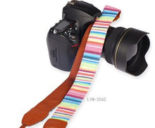 Load image into Gallery viewer, Striped Camera Straps