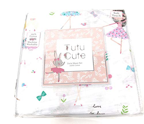 Tutu cute Dancing Girls Ballerina and Butterflies TWIN Sheet Set | 100% Cotton