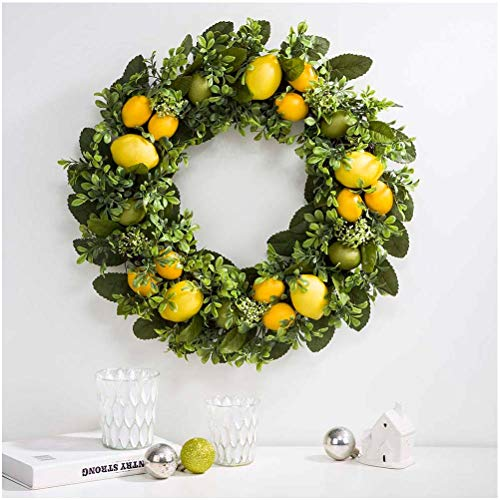 Artificial Greenery Lemon Wreath Decorative Spring/Summer