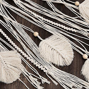 Mkono Macrame Dream Catcher Woven Feather Large Wall Hanging